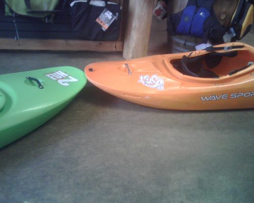 The Wavesport Fuse stern (right) compared to the Jackson 2Fun