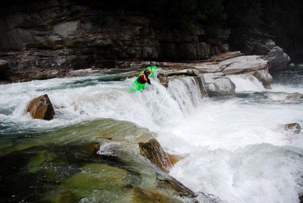 Brett Barton on Eagle Falls